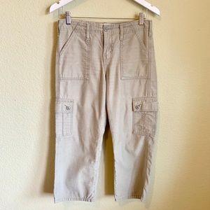Levi's Olive Green Cargo Capris Pants